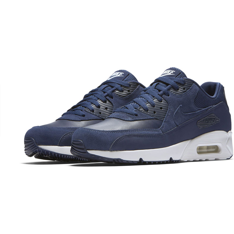 low priced 61c3e 994d9 Scarpe sportive uomo Nike Air Max 90 Ultra 2.0 LTR 924447400 BluBianco  pelle - mainstreetblytheville.org